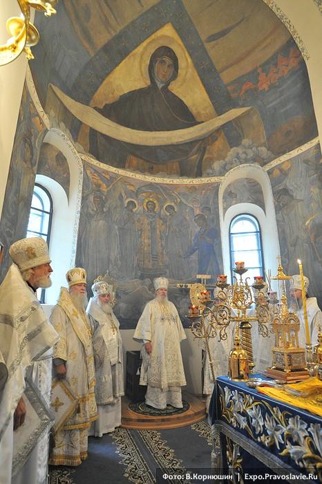 Από τον καθαγιασμό του Ιερού Ναού της Αγίας Σκέπης της Μονής του Ελέους των Αγίων Μάρθας και Μαρίας
