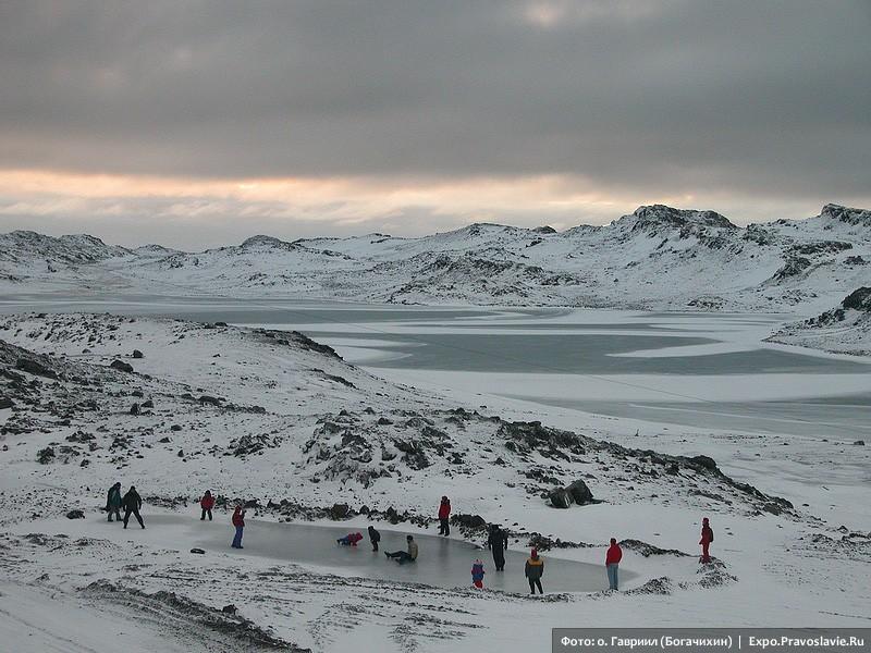 Παιδιά από τη Χιλή βρήκαν παγοδρόμιο
