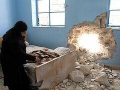 Представители СМИ посетили женский монастырь возле Дамаска, обстрелянный боевиками