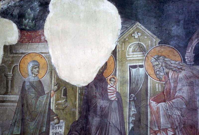 Роспись церкви Успения Богоматери, монастырь Грачаница, Сербия, 1321 г.