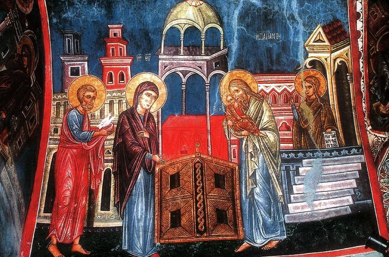Роспись церкви Агиос Николаос Тис Стегис(под крышей). Какопетрия , Кипр XVII в.