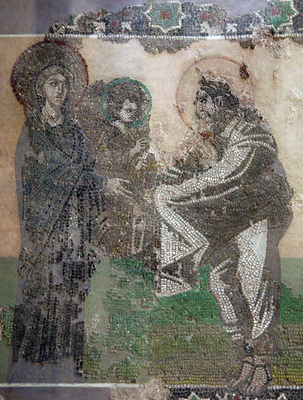 Мозаика церкви Богоматери Кириотиссы ( мечеть Календархане) в Стамбуле, Археологический музей Стамбула