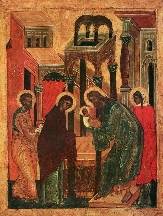 Икона первой половины XVI в., из праздничного ряда  церкви архангелов на Городце в Пскове, Псковский музей-заповедник