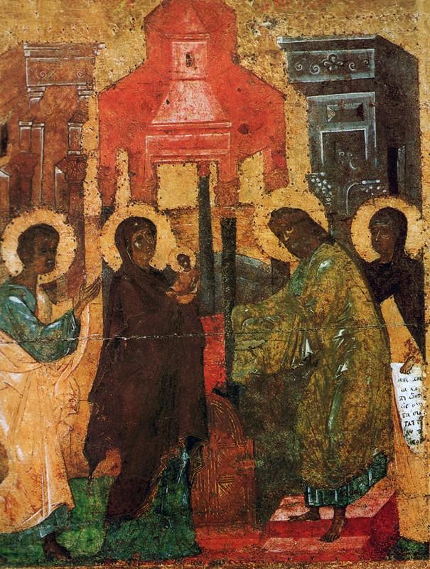 Икона праздничного ряда Софийского собора в Новгороде. Первая половина XIV века