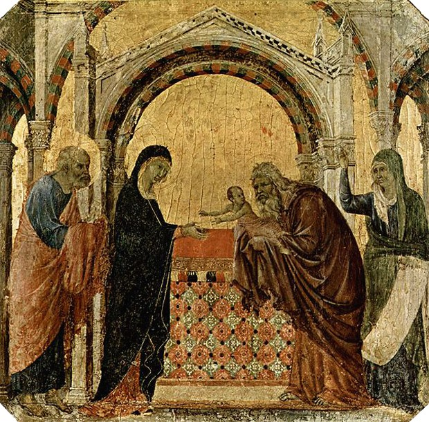 Дуччо ди Буонинсенья, сиенская школа, Сретение Господне, XIII век