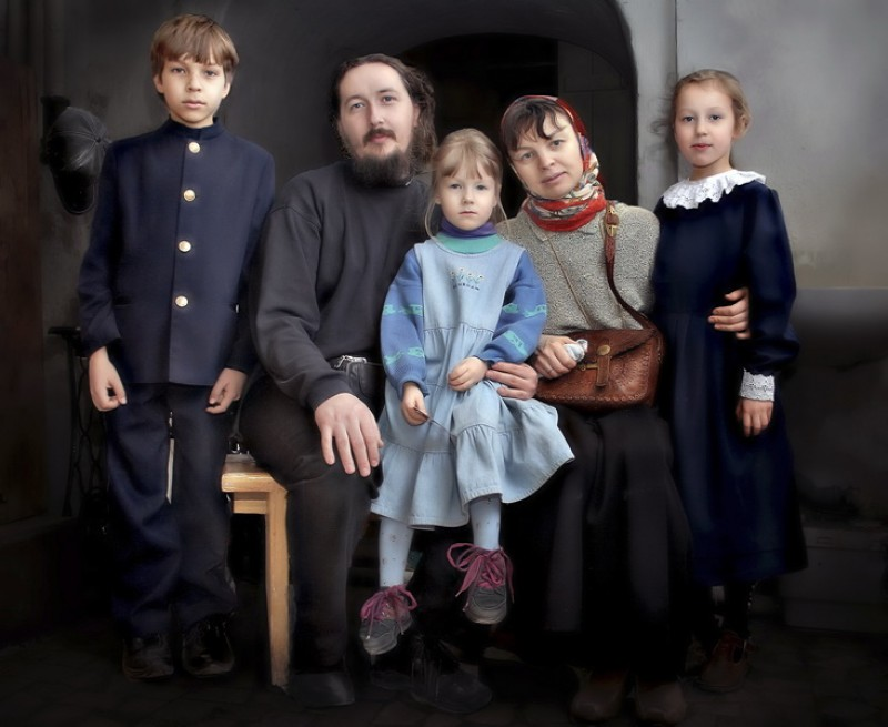 Дьякон Андрей с семьей