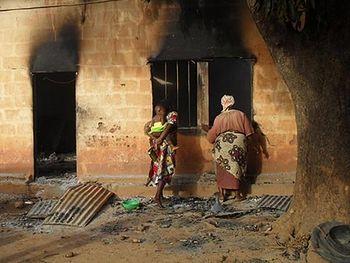 La destruction de l'église. Nigeria