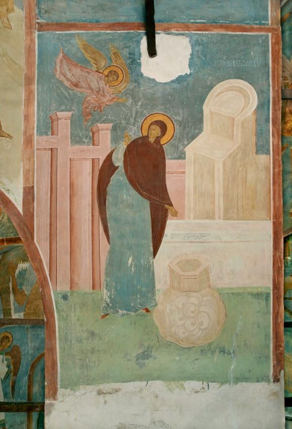 Благовещение у кладезя. Роспись собора Рождества Богоматери, 1502 год, Дионисий и сыновья