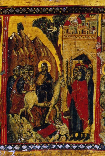 The Entry of the Lord into Jerusalem. Byzantium. 13th c.. Monastery of St. Catherine, Sinai.