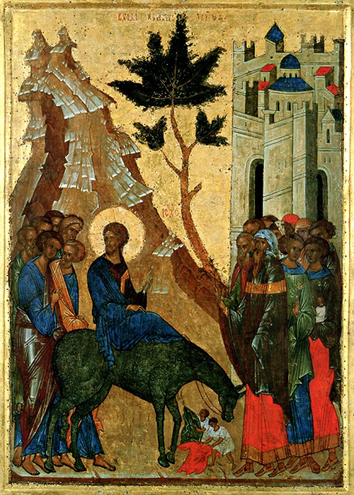 The Entry of the Lord into Jerusalem.1497. St. Cyril of White Lake Monastery.