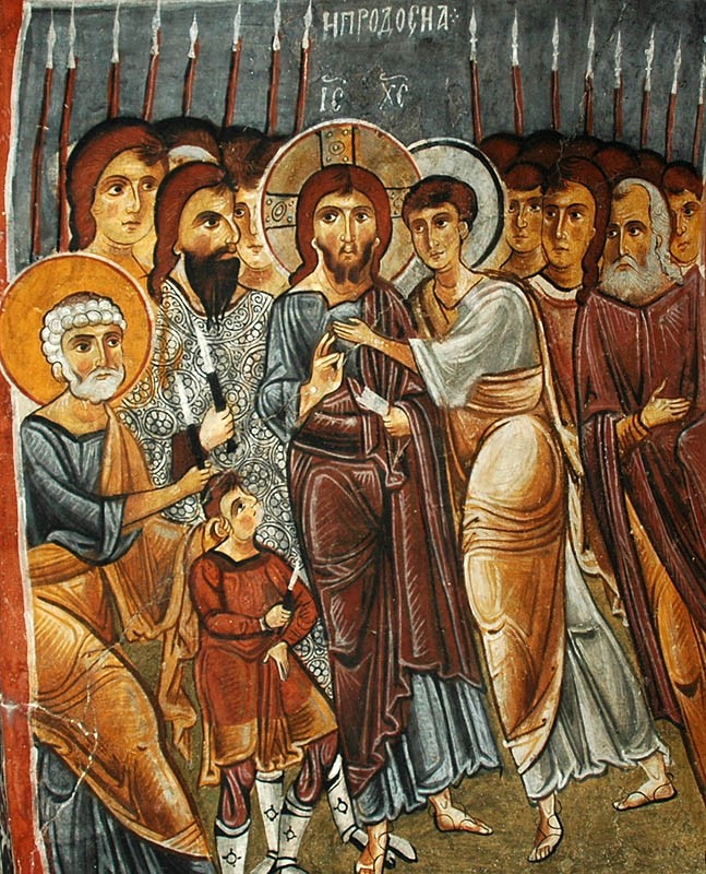 Holy and Great Friday. Judas's kiss. Cave church, Cappadocia. 11th c.