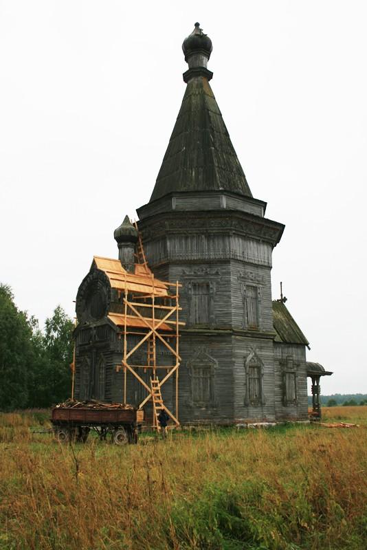 Деревня Печниково, Красная Ляга. Сретено-Михайловский храм после противоаварийных работ