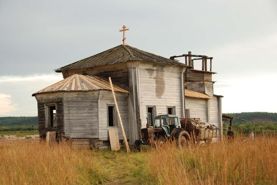 Деревня Усть-Нерманка. Храм святой великомученицы Екатерины после консервационных работ