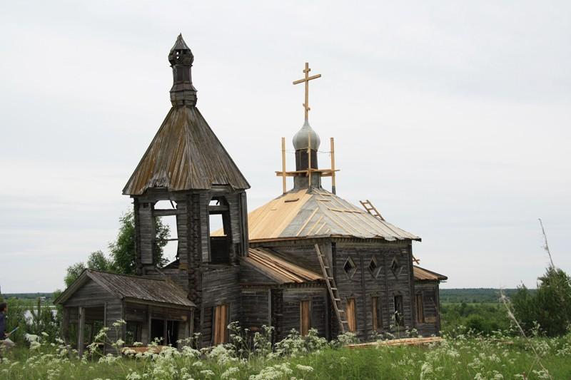 Деревня Ильинский остров (Моша). Храм пророка Илии, перекрытие крыши
