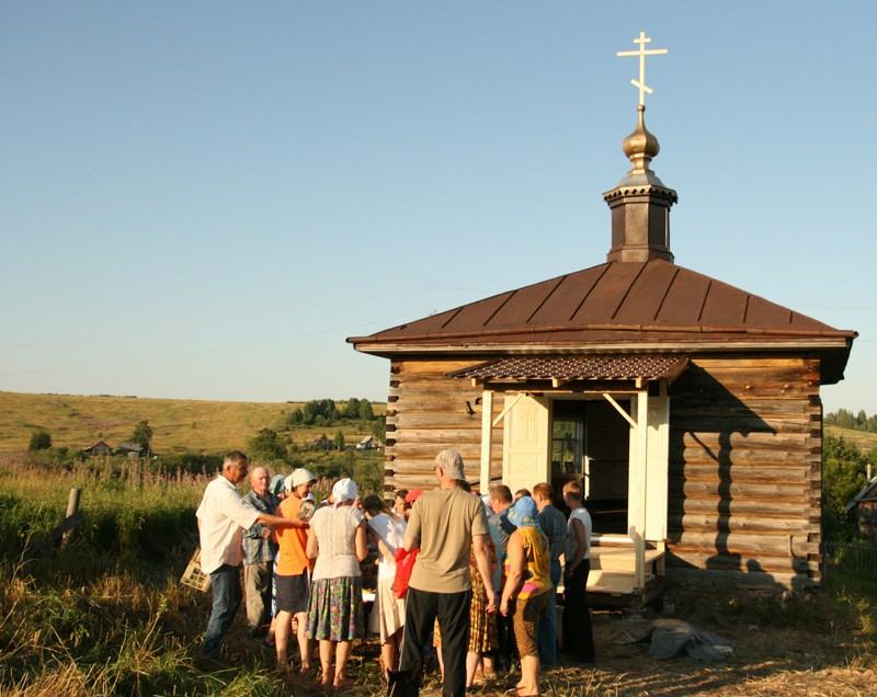Деревня Копосово. Часовня святителя Николая после восстановительных работ