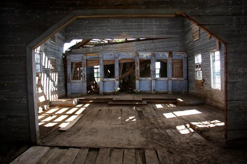 Деревня Чикинская. Храм Покрова Пресвятой Богородицы после противоаварийных работ