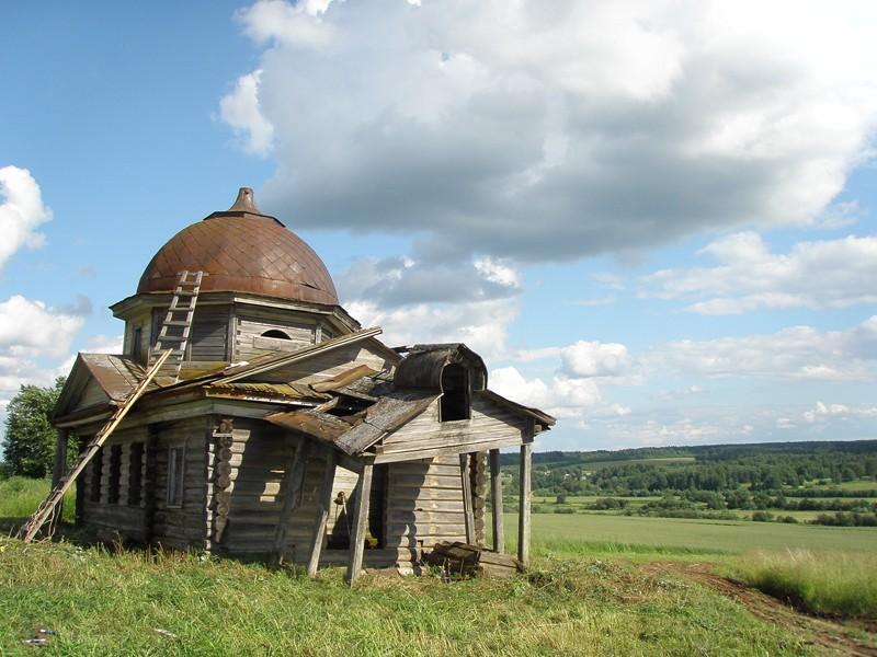 Деревня Скомовская. Часовня великомученика Пантелеимона Целителя