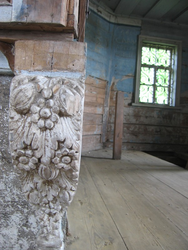 Деревня Ростовская. Храм пророка Илии, часть интерьера