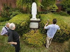 Statue vandalism saddens, befuddles