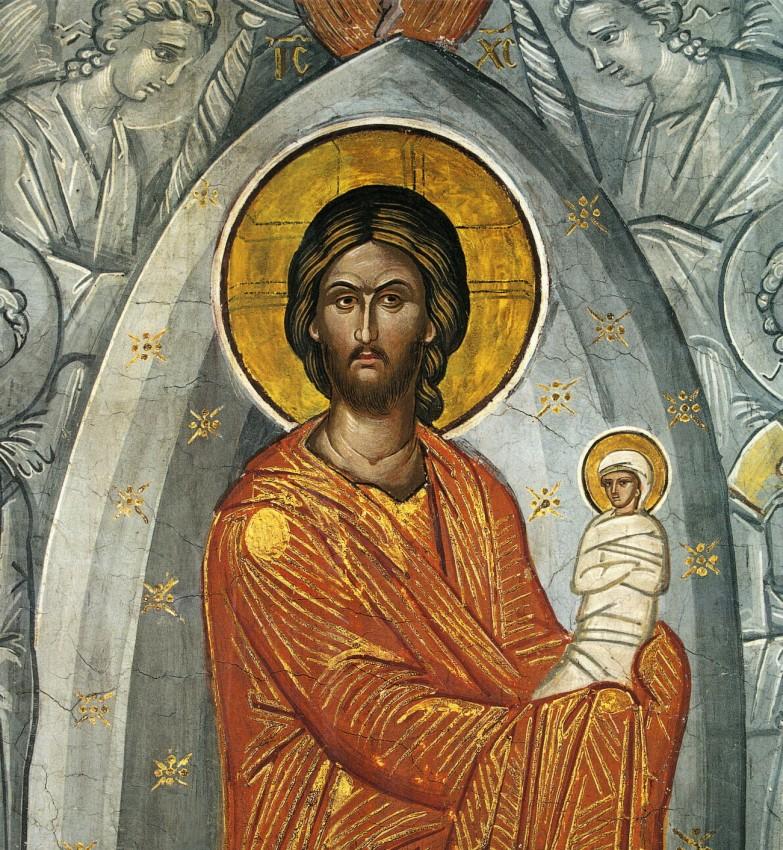 Успение Пресвятой Богородицы. Фрагмент фрески