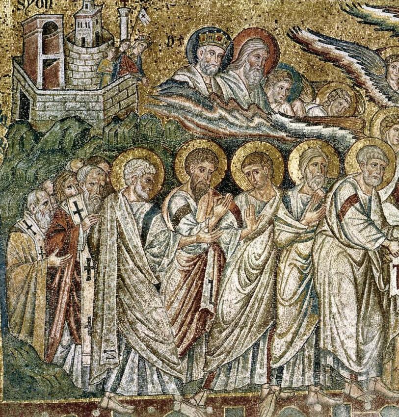 Успение Пресвятой Богородицы. Церковь Санта Мария Маджоре, Рим, 1296 год. Фрагмент
