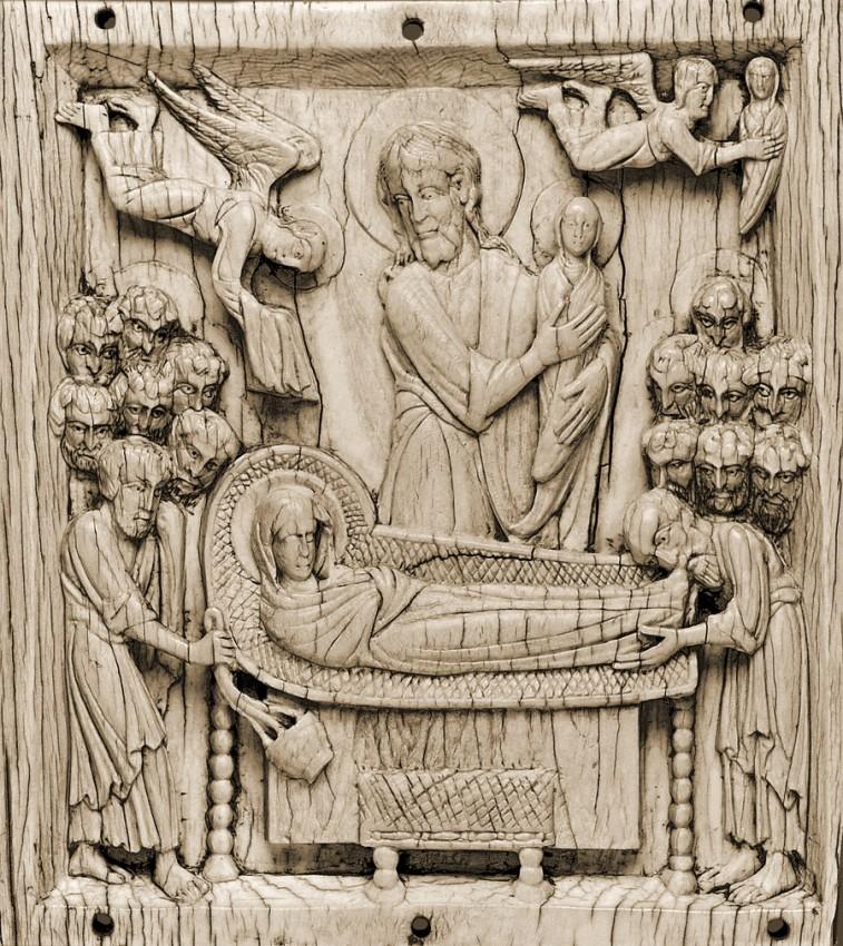Успение Пресвятой Богородицы. Византия, XI век. Слоновая кость