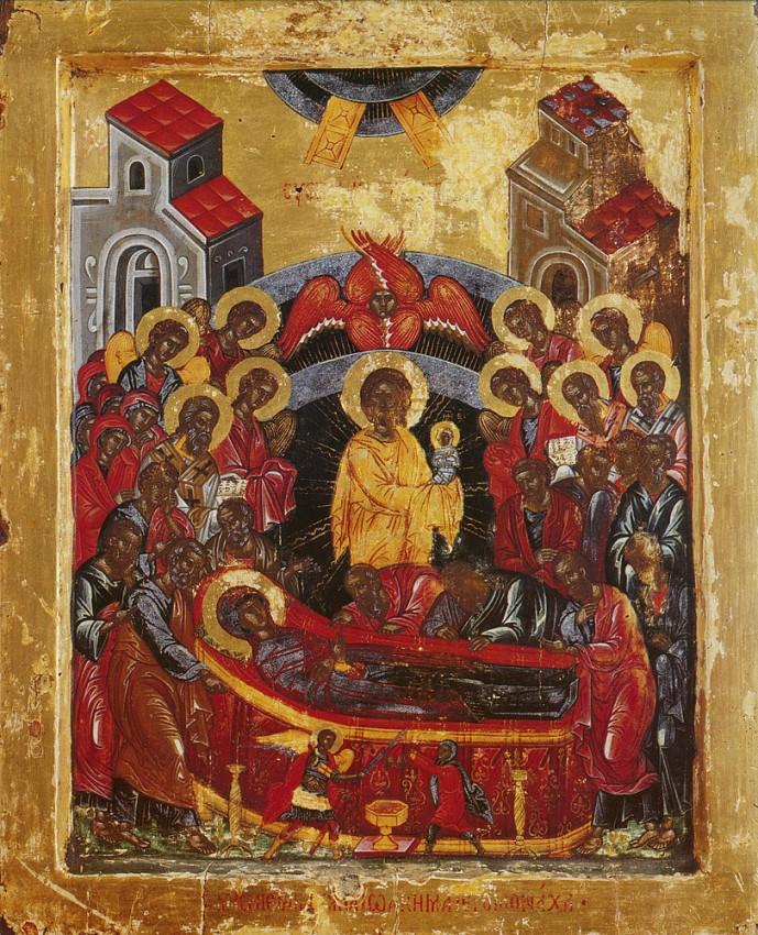 Успение Пресвятой Богородицы; Греция. Афон, монастырь Хиландар, XVII век