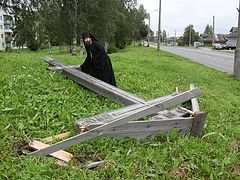 Vandals Take Chainsaws to Orthodox Crosses