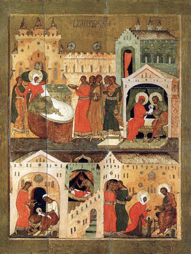 Рождество Пресвятой Богородицы. XVI в., музей им. Андрея Рублева