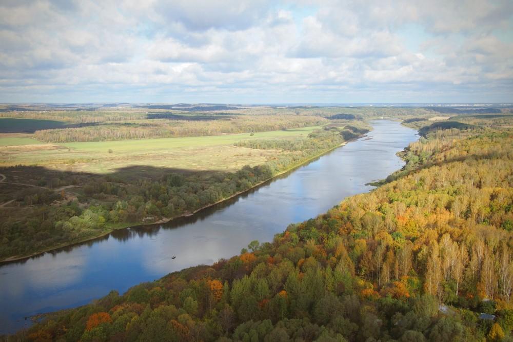 Ο ποταμός Όκα στο Πολένοβο