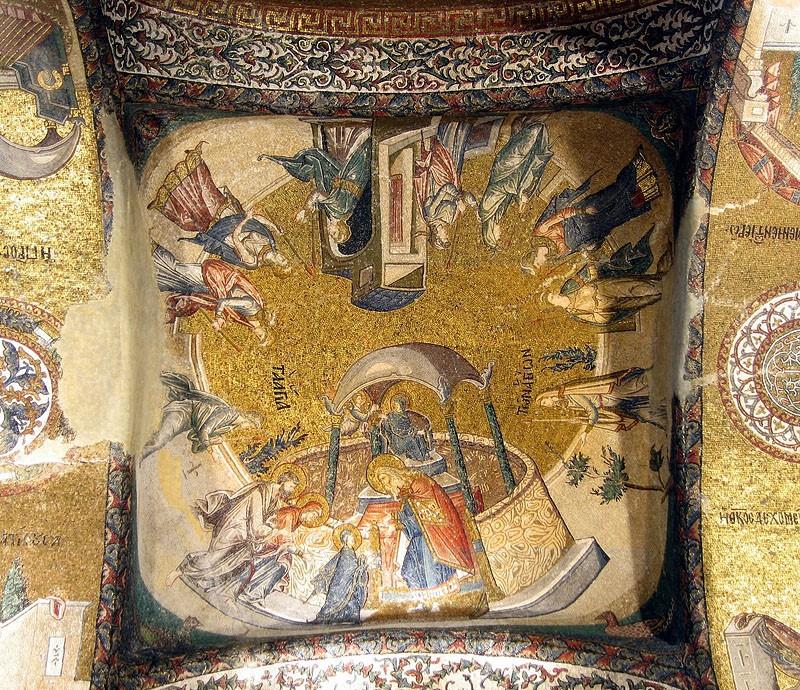 Введение во храм Пресвятой Богородицы. Мозаика монастыря Хора