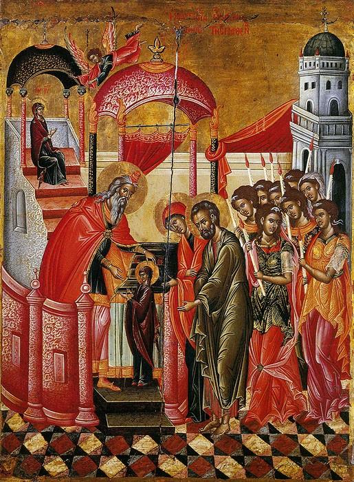 Введение во храм Пресвятой Богородицы. Крит, XVII век